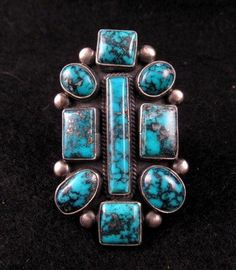 Gorgeous Turquoise Ring by Navajo Verdy Jake sz6-1/2 to 8 - I love this ring!
