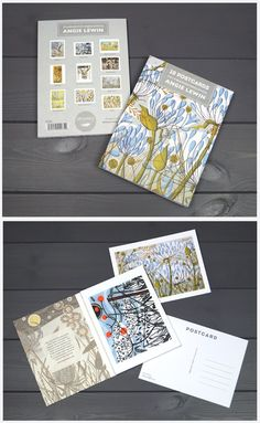 Postcard book by Angie Lewin