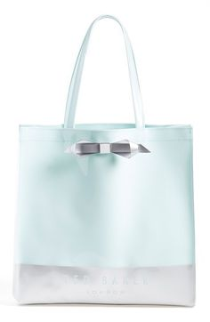 'Large Colorblock Bow Icon' Tote