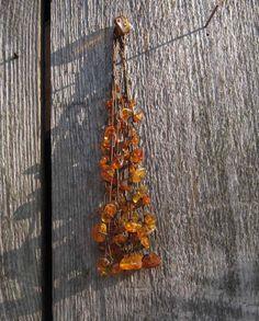 Baltic Amber Necklace Natural Dark Honey Amber von DreamsFactory