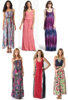 maxi dresses - patterned