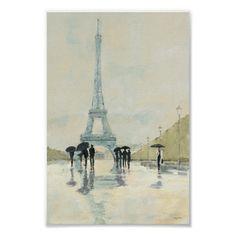 Eiffel Tower   Paris In The Rain Poster Paris Canvas, Paris Wall Art, Paris Art, Painting Frames, Painting Prints, Art Prints, Paris Painting, Ink Painting, Texture Painting
