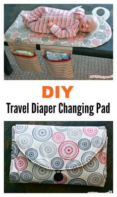 DIY Travel Diaper Changing Pad and Clutch Bag - Sewing Projects Diy Baby Gifts, Baby Crafts, Homemade Baby Gifts, Best Baby Gifts, Diy Diapers, Diy Diaper Bags, Diy Nappy Bag, Nappy Wallet, Diaper Bag Patterns