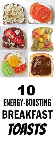 10 Healthy Breakfast Toast Recipes!