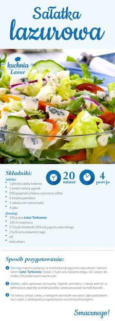 Sałatka lazurowa /sałatka /Lazur /ser pleśniowy /rokpol /przepisy /kuchnia lazur