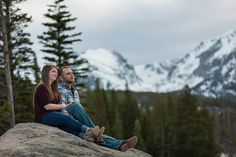 engagement photos mountain views