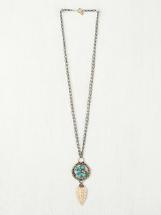Free People Turquoise Dream Catcher Pendant. Omg. Love this!!!! Want for my bday