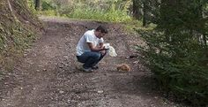 Man Simply Would Not Give Up On A Cat Rescued From Woods!