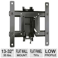 """Sanus VuePoint Dual Purpose Wall Mount by Sanus Systems. $24.99. Sanus VuePoint F18B Dual Purpose Tilting and Low Profile Wall Mount - Fits Most 13""""-32"""" Flat Panel TVs, Holds up to 35 lbs."""
