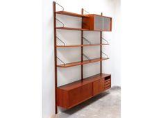 Wall unit en teck Poul Cadovius The Unit, Shelves, Wall, Design, Vintage, Home Decor, Products, Glass Shelving Unit, Teak