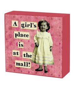 Take a look at this Primitives 'At the Mall' Standing Sign by Gifts Under $10: Home Goods on #zulily today!