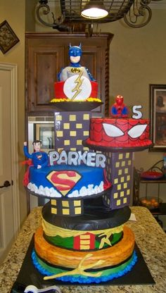 Superhero cake By kimpirtle on CakeCentral.com