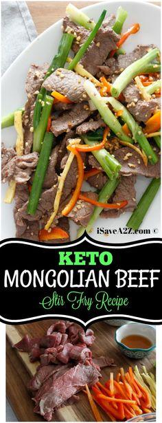 Keto Chinese dish - Keto Mongolian Beef Stir Fry Recipe DELISH!!! via @isavea2z