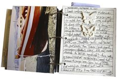 A Scrapbook On The Road is simply a small album you put together prior to a trip that allows you to document your travels as you are experiencing them. by aliedwards.com