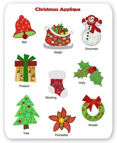 free applique patterns for christmas designs | Christmas Embroidery Applique Designs Winter Tree Snowman Stocking ...