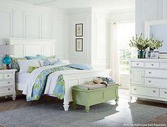 Breeze White 3Pc Queen Bedroom - Art Van Furniture