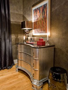 """L'Autre Regard Deco "" by Luka Deco Design © (Philippe by Luka Decoration, via Behance Decor, Furniture Design, Silver Furniture, Furniture, Dresser Design, Interior, Metallic Painted Furniture, Home Decor, Eclectic Bedroom"