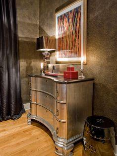 Bedroom Painted Antique Furniture Design, SILVER!