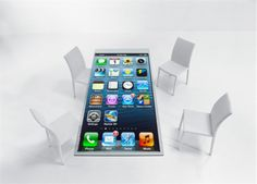 quirky ideations | iPhone/iPad TableTop. iTable. Supersize your iPhone. Glass table w/ touch surface & dock to pull screen to the table. Multi-player games.  Business apps.