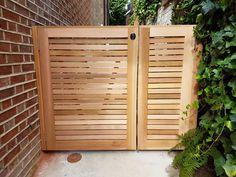 If you were looking for (garden gates), take a look below Modern Wood Fence, Cedar Wood Fence, Cedar Gate, Wood Fence Gates, Fence Gate Design, Garden Gates And Fencing, Modern Fence Design, Wooden Gates, Backyard Gates