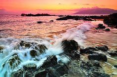 Sea #pink #sunset #pastel