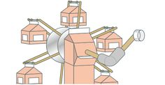 中観覧車(ちゅうかんらんしゃ)|簡単!牛乳パックで作ろう 楽しい工作|雪印メグミルク株式会社 How To Make, Crafts, Manualidades, Handmade Crafts, Craft, Arts And Crafts, Artesanato, Handicraft