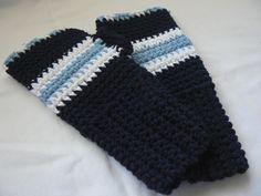 Kids Fingerless Mittens Blue Cotton Crochet Wrist Warmers Girls Mittens Boys Gloves Children Wrist Warmers. $20.00, via Etsy.
