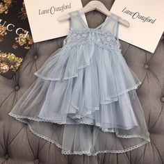 Baby doll dress in baby size 😂 Dresses Kids Girl, Kids Outfits, Flower Girl Dresses, Baby Dresses, Baby Girl Fashion, Toddler Fashion, Frock Patterns, Dress Anak, Kids Gown