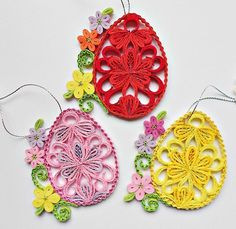 Quilled Easter egg-quilled egg-ornament house-spring
