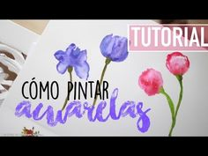 Cotton Swabs Painting Technique for Beginners Doodle, Painting Techniques, Watercolor Paintings, Decoupage, Scrapbook, Crafts, Illustrations, Videos, Pen And Wash