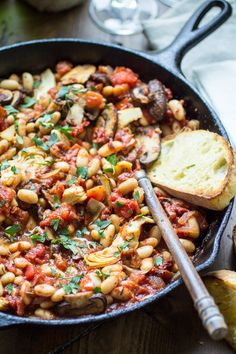 30-Minute Tuscan White Bean Skillet - The Wanderlust Kitchen