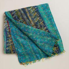 Silk Kantha Throw | World Market