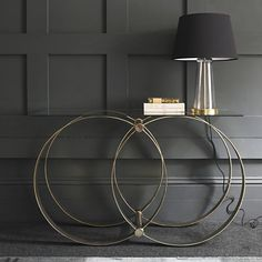 Etienne Glass Top Console Table (Not on the High Street)