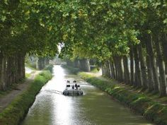 This Canal du Midi, South France, is tree-lined canal that runs from Toulouse to the Mediterranean sea, is the largest UNESCO World heritage site on earth.  this mammoth civil engineering project was the most complex and greatest civil engineering undertaking since the time of the Romans. Passing under the walls of historic Carcassonne the quintessential South of France experience is to boat, walk or cycle along Riquet's Canal du Midi.