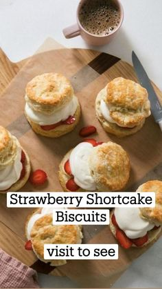 Party Desserts, Summer Desserts, Shortcake Biscuits, Mini Pies, Best Breakfast Recipes, Breakfast Casserole, Strawberry Shortcake, Yummy Treats, Baking