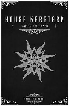 House Karstark -   Alternative and minimalist poster - Game of Thrones - By Thomas Gateley, http://www.flickr.com/photos/liquidsouldesign/  Visit: http://spotseriestv.blogspot.com