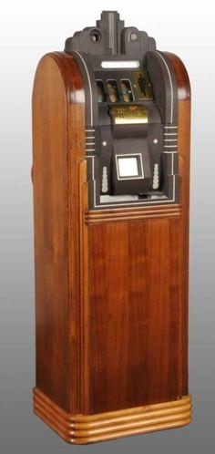 greybeard86:  Art Decó Mills extraordinary floor model 10 cent slot. (via Pinterest)
