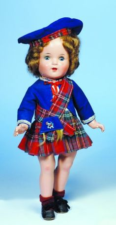 309: ALL-ORIGINAL SHIRLEY TEMPLE-TYPE DOLL BY RELIABLE. : Lot 309