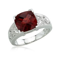 garnet ring my birthstone!!