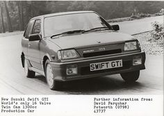 Mk1 Suzuki Swift GTI Press Photograph