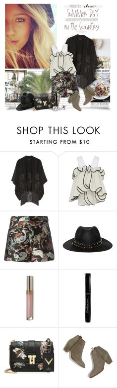 """Prints Charming: A Shorts Story"" by thewondersoffashion ❤ liked on Polyvore featuring Anna Sui, Maticevski, Valentino, The Kooples, Bourjois, Madewell and ELé"