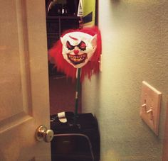 Curfew Clown! Creative discipline for teenagers.. SCARE the crap out of them when they get home late.  You will hear them come in!