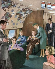 Air travel, TWA, 1950's
