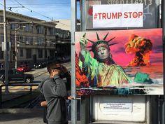 Artists Turn Dolores Park Muni Shelter Into Anti-Trump '#TrumpStop ...