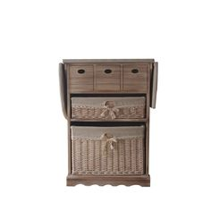 Benzara Urban Port Antiqued Cabinet With Ironing Board