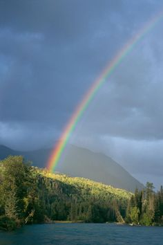 ✮ Rainbow over Kenai, Hawaii  god's promise to noah to never again destroy us by floods, represented by the rainbow