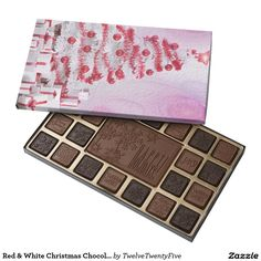 Red & White Christmas Chocolate Box 45 Piece Assorted Chocolate Box