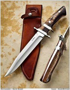 Photos - SharpByCoop's Gallery of Handmade Knives Swords And Daggers, Knives And Swords, Samurai Swords, Knife Handles, Handmade Knives, Cold Steel, Fixed Blade Knife, Custom Knives, Blacksmithing