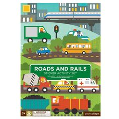 Stocking Fillers for Kids - 'Roads & Rails' Sticker Activity Set by PetitCollage