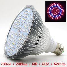 2016 Full Spectrum LED Grow Light E27 Lamp for Garden Flowering Plant Hydroponics System AC 85-265V Grow Box